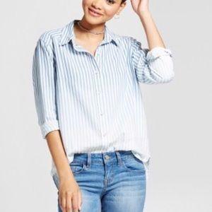 Blue Ombré Button Down Shirt